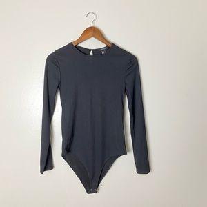NWOT Forever 21 Black Ribbed Bodysuit Medium